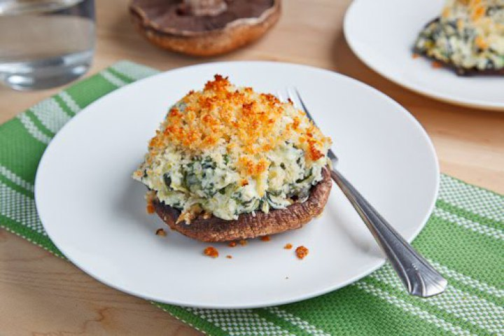 Portobello Mushrooms Stuffed with Spinach and Artichoke Dip Recipe ...