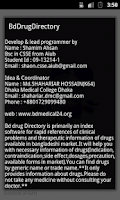 Screenshot of Bd Drug Directory