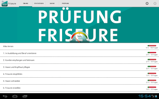 Screenshot of Prüfung Friseure