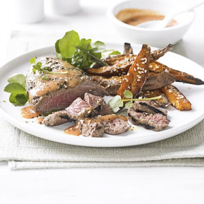 Miso Chilli Steak With Crispy Sweet Potatoes