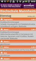 Screenshot of Mensa Studentenwerk Mannheim
