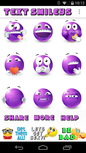 Purple Smileys by Emoji World - screenshot