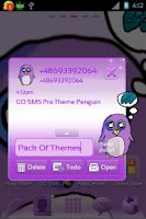 Screenshot of GO SMS Pro Theme Penguin