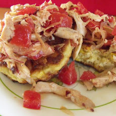 Smoky Chicken Corn Cakes