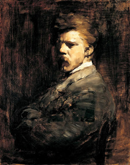 One of Cincinnati's most well-known and beloved artists, Frank Duveneck, was born in Covington, KY to German immigrants. He studied abroad in Munich, returning to the US with a dark palette popular in northern Europe and a tendency toward loose, impressionist-style brushstrokes. Duveneck taught at the Art Academy of Cincinnati, then adjoining the Cincinnati Art Museum. His studio comprised the third floor of the Art Museum. Zoom in to look at the details of his brushstrokes.
