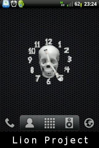 模擬顱骨的時鐘