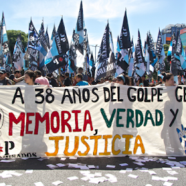 Day of Remembrance for Truth and Justice by Venetia Featherstone-Witty - News & Events World Events ( day of remembrance for truth and justice, justice, political, dirty war, crowds, protestors, buenos aires, public holiday, people, war, argentina, coup d'état of 1976, remembrance, dirty war argentina, Urban, City, Lifestyle )