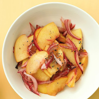 Peach and Red-Onion Relish with Grilled Pork Chops