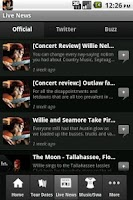 Screenshot of Willie Nelson Live