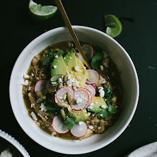Roasted Green Pozole with Chicken