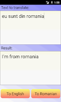 Screenshot of Romanian English Translator