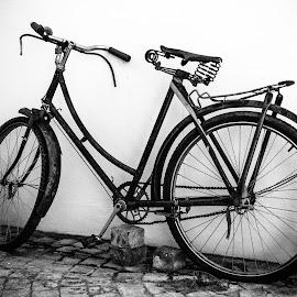 Take a ride by Werner Booysen - Transportation Bicycles ( blackandwhite, old, bike, black and white, werner booysen, bicycle,  )