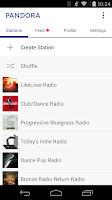 Screenshot of Pandora® Radio