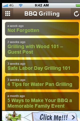 BBQ Grilling.