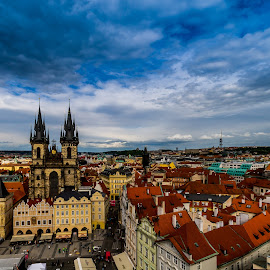 Prague Skyline by Akhil Kabu - Buildings & Architecture Places of Worship ( church, old town square, czech republic, prague )