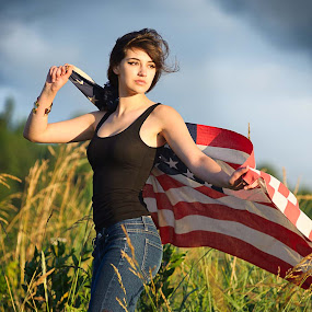 Patriotic by Launa Bodde - People Portraits of Women