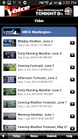 Screenshot of NBC4 Weather