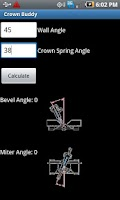 Screenshot of Crown Molding Calculator