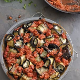 Rolled Eggplant with Sausage & Mozzarella