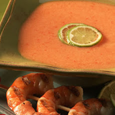 Grilled Shrimp and Melon Pepper Soup