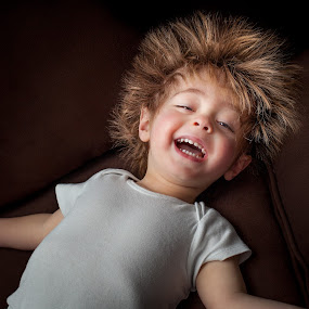Shocking! by Mike DeMicco - Babies & Children Toddlers ( crazy hair, playing, silly, static, lauphing, crazy, fun, toddler, boy, hair, kid )