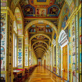 Hermitage Hall by Fred Coleman - Buildings & Architecture Architectural Detail ( north sea, hermitage hall, hall, europe, st petersburg, hermitage, architecture, museum, baltic, historic, russia, color, 2012,  )