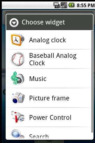 Baseball Clock Widget
