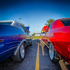 Lined Up by Ron Meyers - Transportation Automobiles