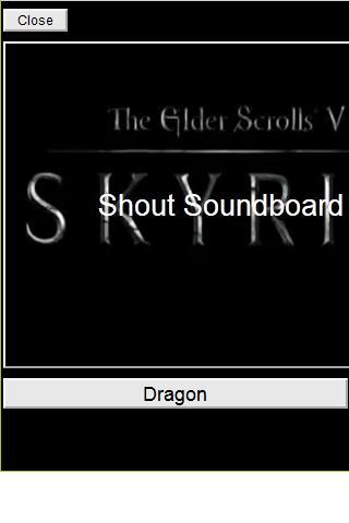 Skyrim Shout Soundboard