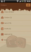 Screenshot of GO SMS Sweet Chocolate Theme