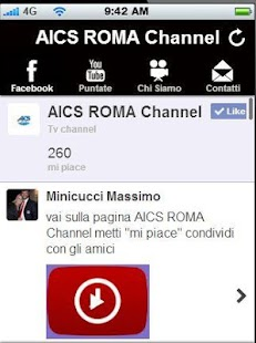 AICS Roma Channel App - screenshot