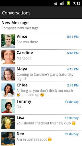 chomp-sms for android screenshot