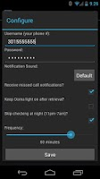 Screenshot of Voicemail Checker for Ooma
