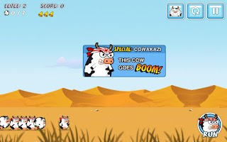 Screenshot of Cowaboom - Launch the cow !
