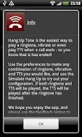 Screenshot of Hang Up Tone