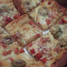 Pampered Chef Roasted Pepper Focaccia
