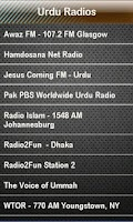 Screenshot of Urdu Radio Urdu Radios