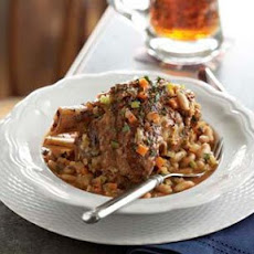 Braised Pork Shanks with White Beans