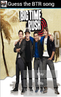 Screenshot of Guess the BTR song