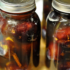 Whole Plums Preserved in Honey Syrup