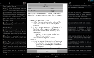 Screenshot of Touch Bible (KJV + Strong's)