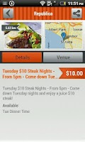 Screenshot of Restaurant Deals