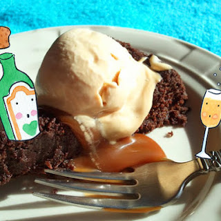 Almost Flourless Chocolate Cake With Dulce De Leche