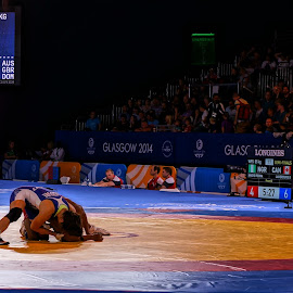 Wrestling session by Shona McQuilken - News & Events Sports ( commonwealth, scotland, games, wrestling, medal, competition )