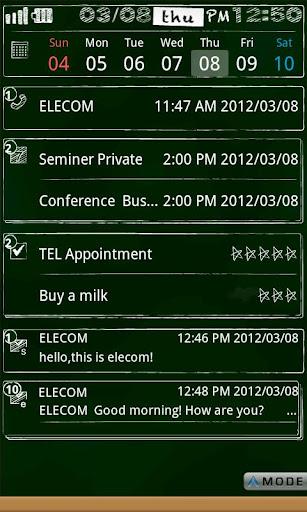ELECOM bizSwiper Black Board