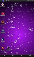 Screenshot of Water drops live wallpaper