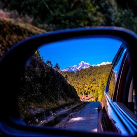 Rare-view Reflection by Akshay Rai - Landscapes Mountains & Hills ( #darjeeling #reflection #mountains #travel #creative,  )