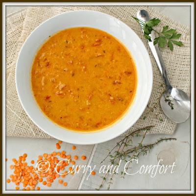 Spicy Lentil (Masoor Dal) Soup-Throwback Thursday