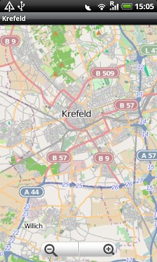Krefeld Street Map