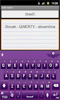 Screenshot of SlideIT Slovak QWERTY Pack